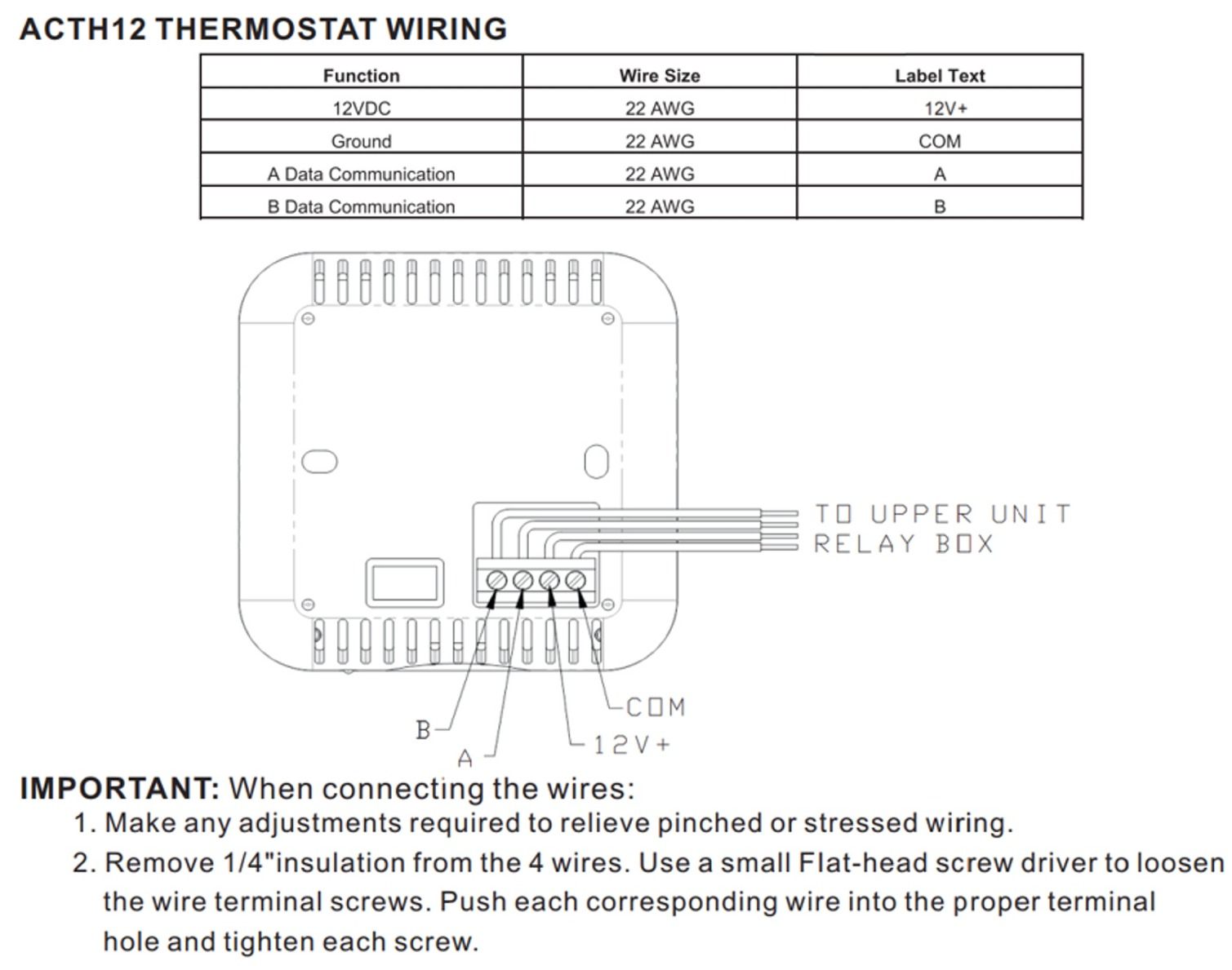 Advent 135 4 Wire Thermostat Wiring - Wiring Diagrams on
