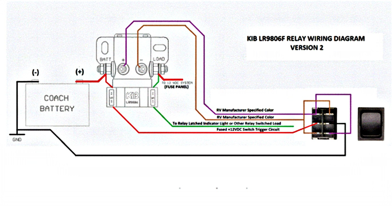 Relay (KIB LR9806 Battery Disconnect Latching Relay) on