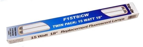 Thin Lite F15T8/CW/TWIN Cool White Replacement Fluorescent Tubes - 18'' Questions & Answers