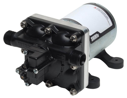 Shurflo 4028-100-E54 Self-Priming Water Pump - 2.3 GPM Questions & Answers
