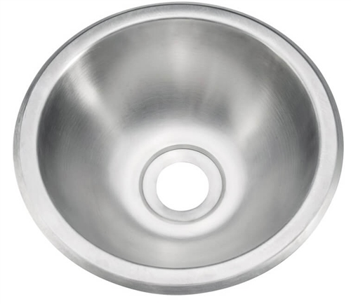"Pure Liberty Manufacturing PLM-1010-304-22 Stainless Steel Sink - 10"" Diameter"