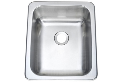 Pure Liberty Manufacturing PLM-1513-304-22 Stainless Steel Sink - 15'' x 13'' Questions & Answers