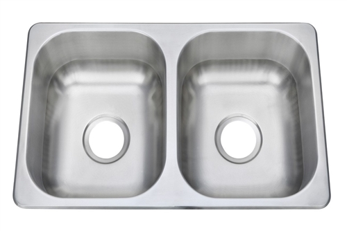 """Pure Liberty Manufacturing PLM-2716-304-22 Double Stainless Steel Sink - 27"""" x 16"""""""