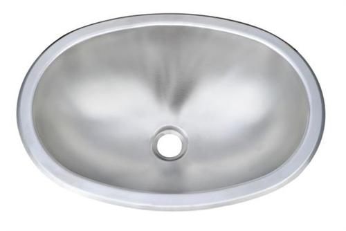 Pure Liberty Manufacturing PLM-1311-304-22 Oval Stainless Steel Sink - 13'' x 11'' Questions & Answers
