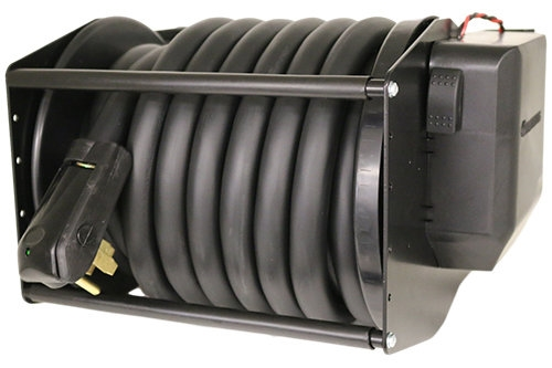 Glendinning CRR50LP-12-I Cablemaster Motorized 50A Low Profile Power Cord Reel - 32 Ft