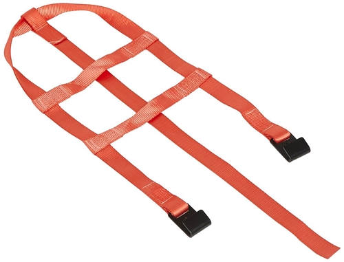"Ultra-Fab 46-700034 Tow Dolly Strap - Red - 14""-16"" Wheels"
