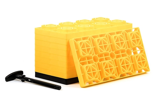 Camco 44515 FasTen RV Leveling Blocks - 17'' x 8-1/2'' - Set of 10 Questions & Answers