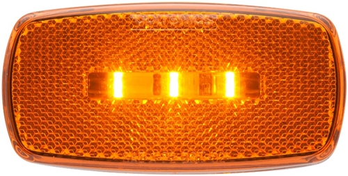 Optronics MCL32AS LED Side Marker Light With White Base - Amber