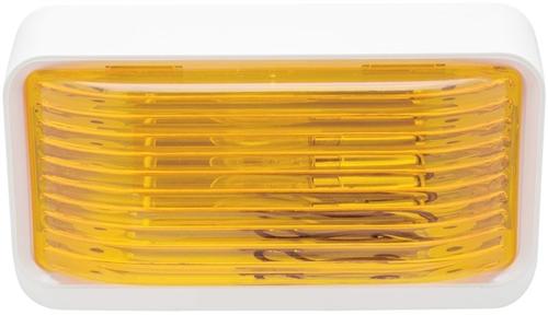 Optronics RVPL1AP Rectangular Porch Light - Yellow Lens
