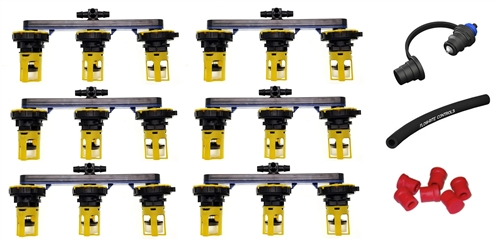 Flow-Rite BG-U36V-1G Pro-Fill Universal Battery Watering System For (6) 6V Batteries, 2.7'' Cell Spacing Questions & Answers