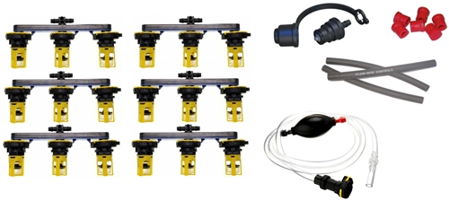 Flow-Rite BG-U36V-1G-WS Pro-Fill Battery Watering System For (6) 6V Batteries, 2.7'' Cell Spacing, With Hand Pump Questions & Answers