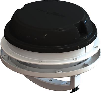 MaxxAir 00-03812B MaxxFan Dome Roof Vent With 12V Fan - Manual Lift - Black