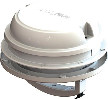 MaxxAir 00-03812W MaxxFan Dome Roof Vent With 12V Fan - Manual Lift - White Questions & Answers