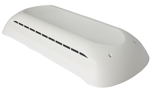 "Dometic 3312695.004 Refrigerator Vent Cover - 24"" x 7"" - Polar White"