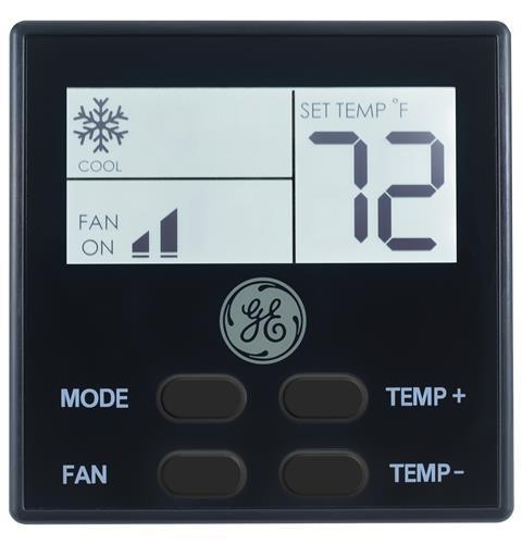 General Electric RARWT2B Single Zone RV Air Conditioner Wall Thermostat - Black