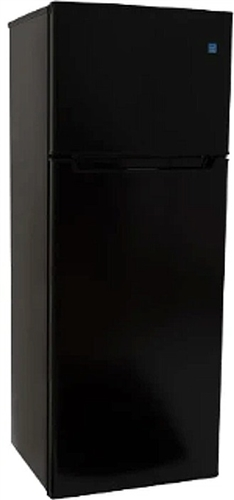 General Electric ATFR0730BE Ascoli 7.3 Cubic Ft Top Mount Refrigerator/Freezer - Black