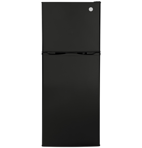 General Electric GPV10FGNBB 9.8 Cubic Ft Top-Freezer Refrigerator - 12 Volt DC - Black