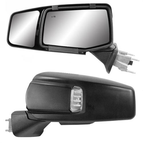 K-Source 80930 Snap & Zap Exterior Towing Mirrors For 2019-2021 Chevy Silverado 1500/GMC Sierra 1500