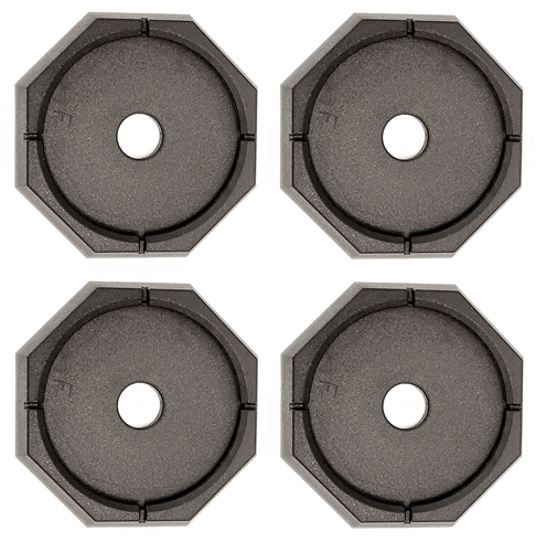 "RV SnapPad Xtra XL Round Permanent RV Jack Pads - 12"" - 4 Pack"