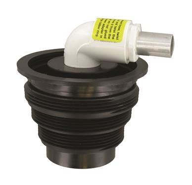 Does the 90 swivel in the stepped adapter or do you have to turn the unit as one piece