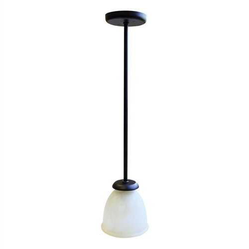 LaSalle Bristol 410110005744RT Pendant Light With Frosted Globe - Oil Rubbed Bronze