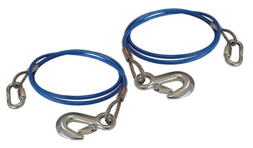 """Roadmaster 645-76 Single Hook Trailer Safety Cables - 76"""" - 6000 Lbs"""