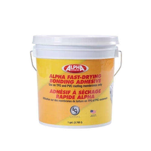 Alpha Systems 862400 8019 Fast-Drying Water-Based RV Roof Bonding Adhesive - White - 1 Gallon Questions & Answers