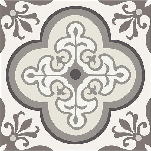 Con-Tact FLRA-12N016-06 FloorAdorn Peel & Stick Vinyl Floor Tiles - Neutral Pattern - 6 Pack