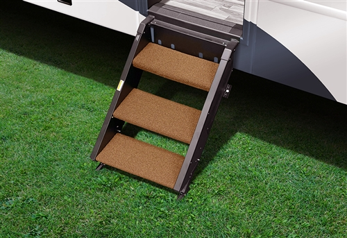 Prest-O-Fit 2-0249 Step Rug For StepAbove RV Entry Steps - 19-1/2'' Width - 3 Piece - Buckskin Brown Questions & Answers
