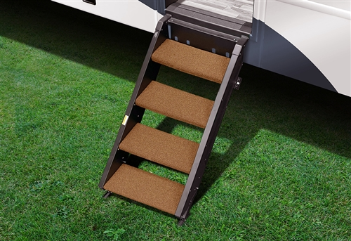 Prest-O-Fit 2-0261 Step Rug For StepAbove RV Entry Steps - 19-1/2'' Width - 4 Piece - Buckskin Brown Questions & Answers