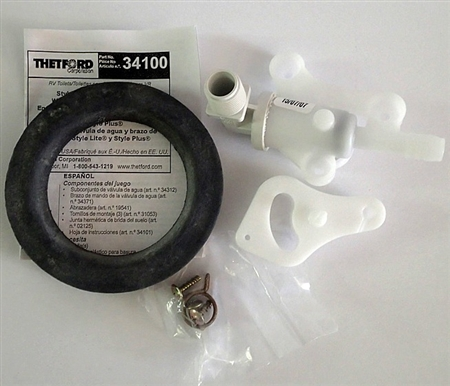 Thetford 34100 Water Valve for Aqua-Magic Lite And Plus RV Toilets Questions & Answers