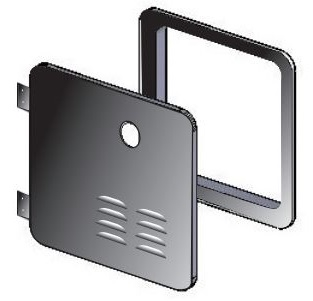 Girard 1GWHDB Water Heater Access Door For 1GWHD, GSWH-1M - Black Questions & Answers