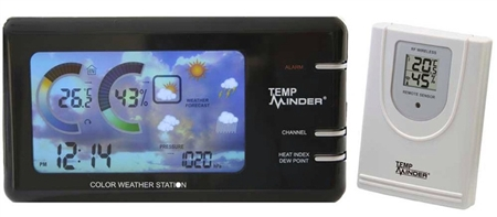 Minder Research MRI-177AN TempMinder Weather Station with Wireless Remote/Power Adapter
