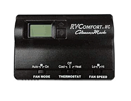 Coleman Mach 8330-3862 Digital Heat/Cool RV Air Conditioner Thermostat - Black