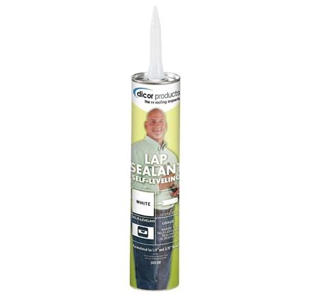 Dicor 501LSW Self-Leveling Lap Sealant - White - 10.3 Oz
