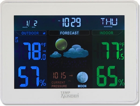 How does the weather station stand up?   Does it have a stand behind it?