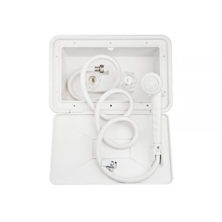 Dura Faucet DF-SA170-WT RV Exterior Shower Box Kit - White Questions & Answers