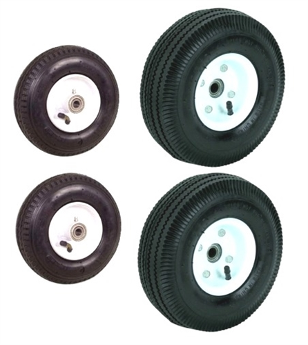 Will these wheels fit a 25 gal tote n store waste transport 4 wheeler?