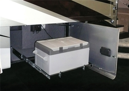 Can the MORryde SP56-115 Sliding Freezer Tray - Front Facing Cooler Pull Out be used for a 100 lb Generator?