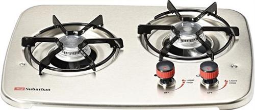 Suburban 3071AST 2-Burner Drop-In Cooktop - Stainless Steel