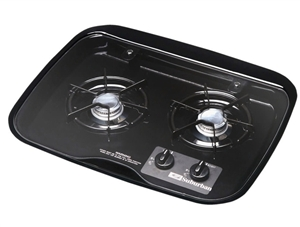 Suburban 3084A Flush Mount Glass Cover for 2 Burner, Drop-In Cooktop