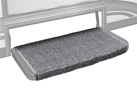 """What size step will the Prest-O-Fit 2-1073 Wraparound Plus 20"""" RV Step Cover - Grey fit?"""