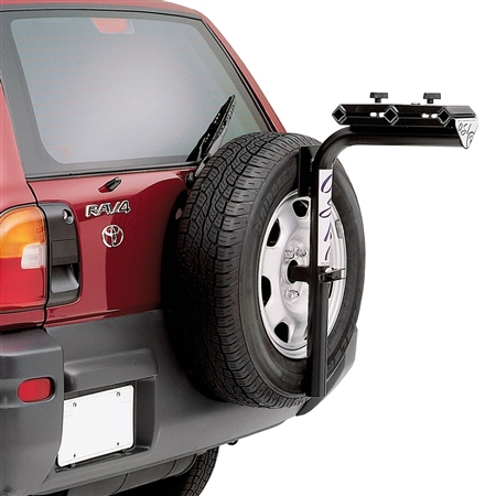 Need  a bike rack that will also mount a spare vehicle tire. Does this rack do this?
