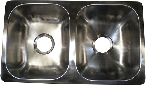 LaSalle Bristol 13TLSB25155 RV Double Bowl Stainless Steel Kitchen Sink
