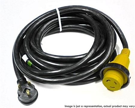 RV Pigtails 72531-50 30 Amp Extension Cord with 30 Amp Marinco End 50'