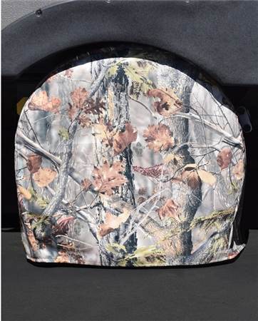 ADCO 3652 Game Creek Oaks Camouflage RV Tyre Gard Tire Cover - (#2) 30'' - 32'' Pair Questions & Answers