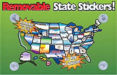 State Sticker REMOVABLESTATESTICKERS State Stickers and Map