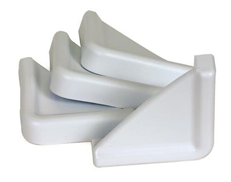 Camco 42193 4 Pack RV Slide-Out Guards White