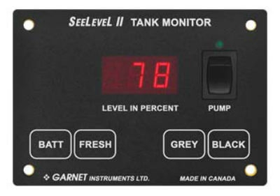 Why doesn't my pump switch on the Garnet Tank Monitor System have a green light? As newbies we didn't know if OB was up or down