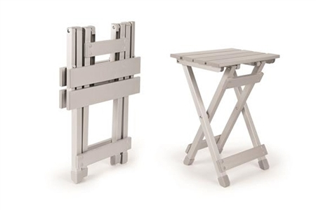 Camco 51890 Fold-Away Small Side Table - Silver Questions & Answers